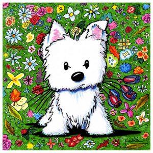 KiniArt Floral Westie