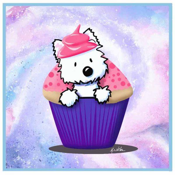 KiniArt Westie Cupcake
