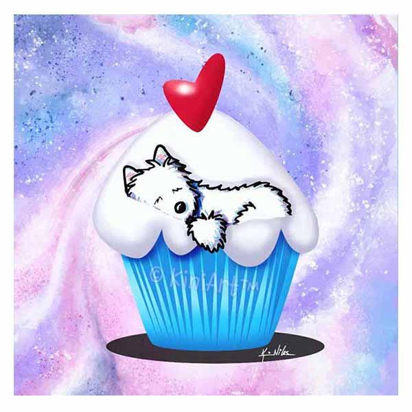 KiniArt Westie Cupcake Lover