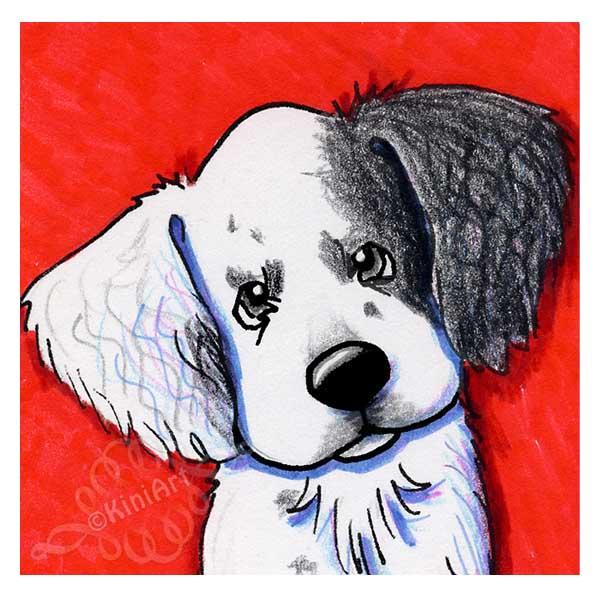 KiniArt English Setter Pup