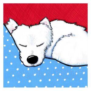 KiniArt Westie Dog Tired