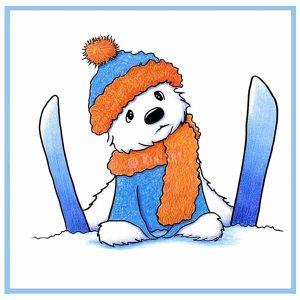 KiniArt Westie Ski Dog