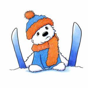 KiniArt Westie Skier