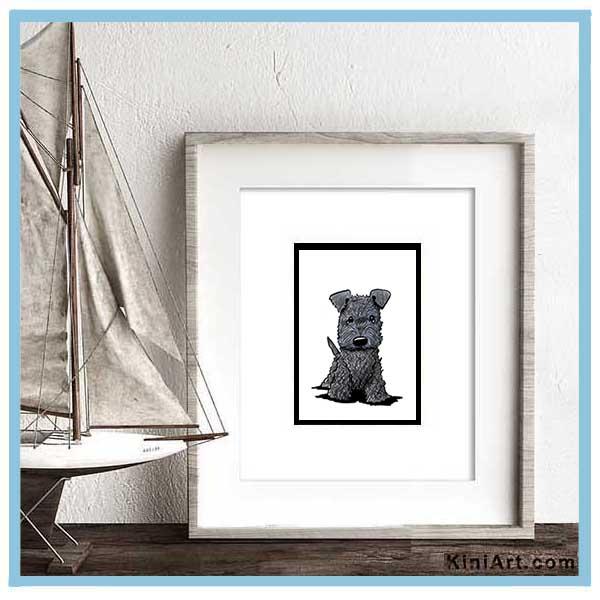 KiniArt Terrier mock frame