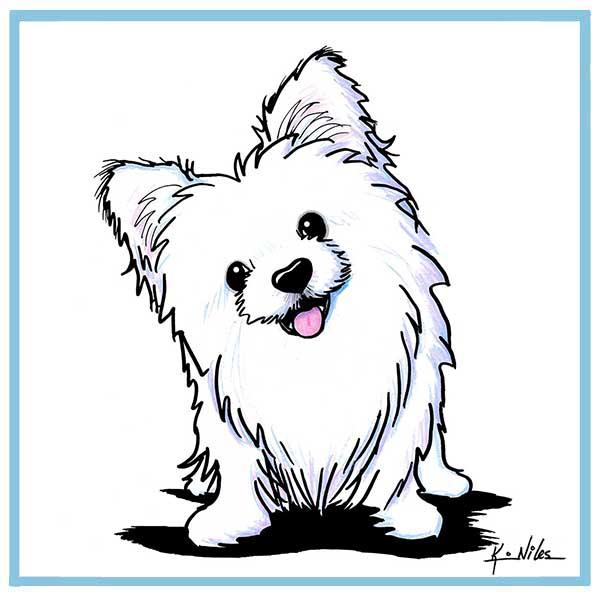 KiniArt White Pomeranian