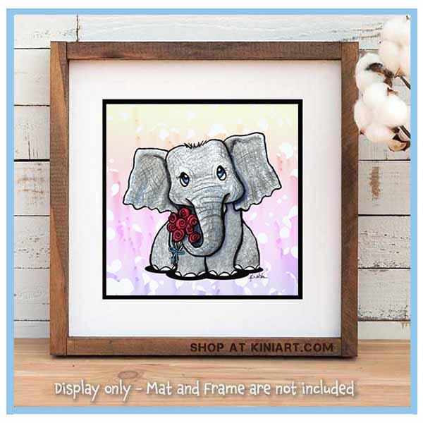 KiniArt Elephant Print