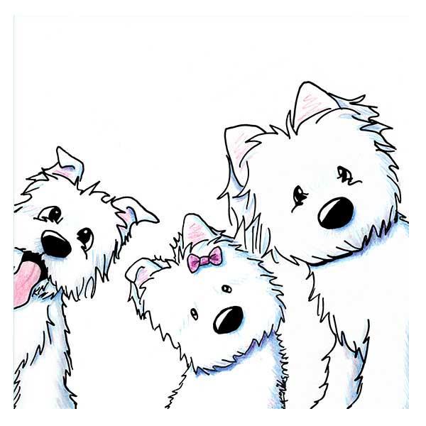 KiniArt Westie Trio