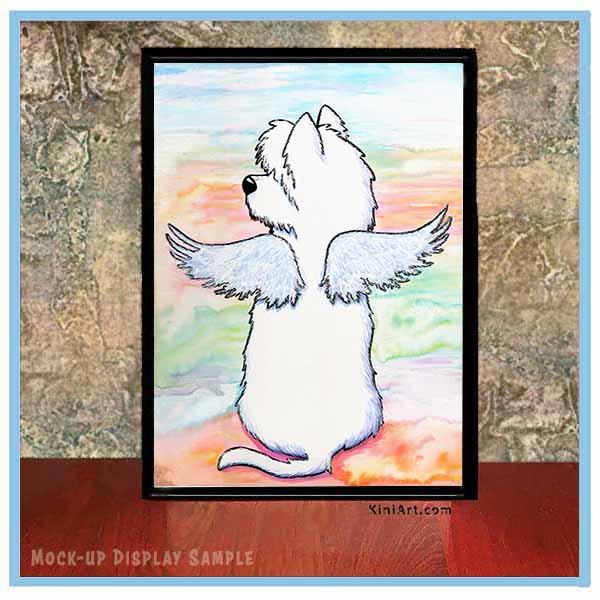 KiniArt Westie Angel sample display