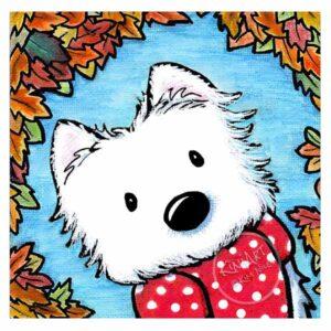 KiniArt Autumn Westie