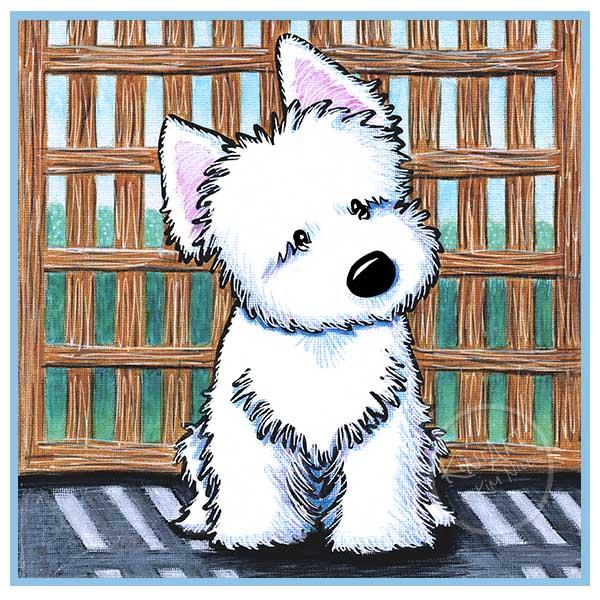 KiniArt Westie Puppy Painting