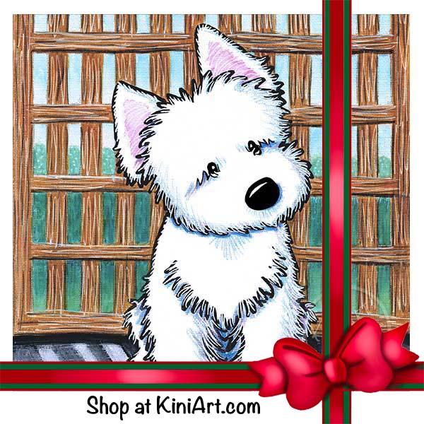 Westie painting by Kim Niles.