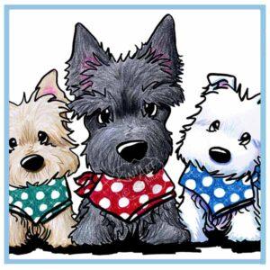 KiniArt Terrier Trio