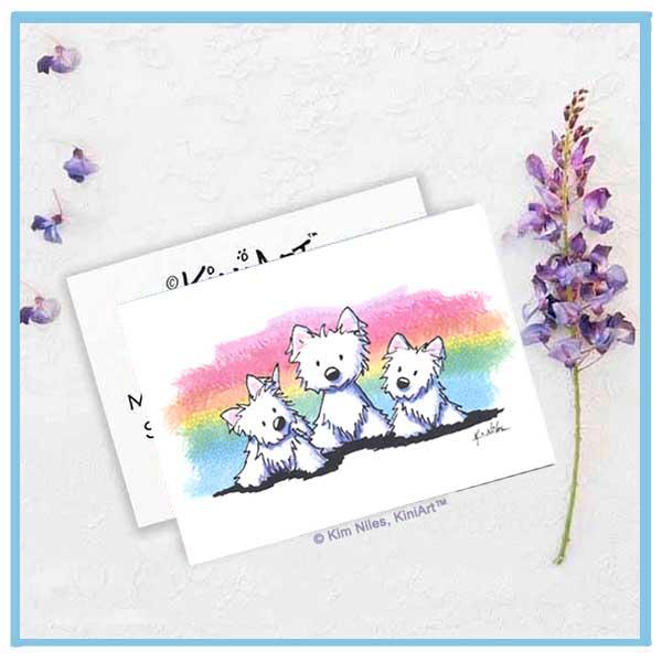 KiniArt Rainbow Westies