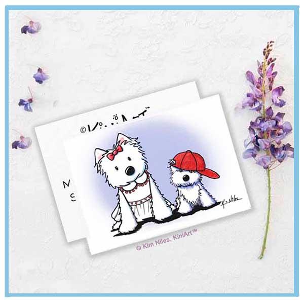 Westie Mom & Pup
