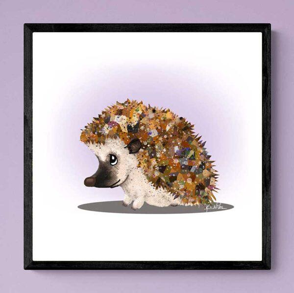 KiniArt Hedgehog art print
