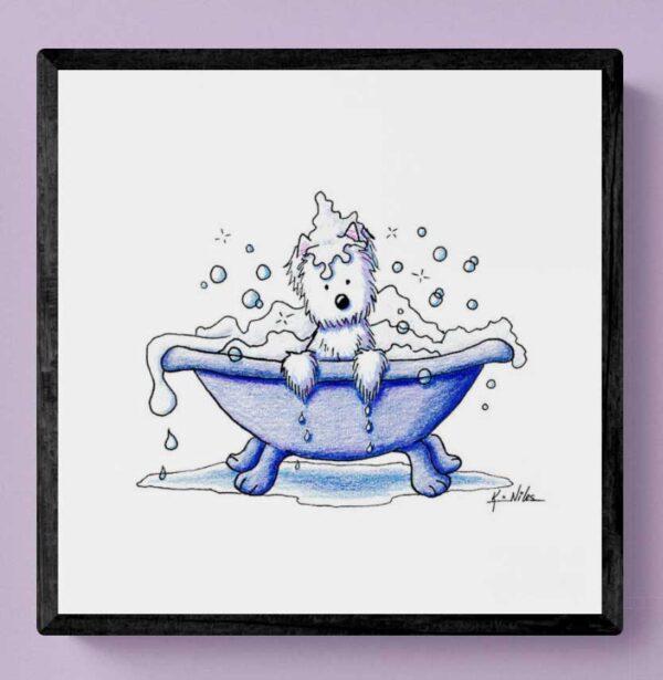 Muggles Westie Bath