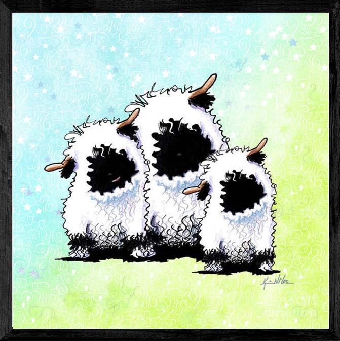 KiniArt Blacknose Valais Sheep
