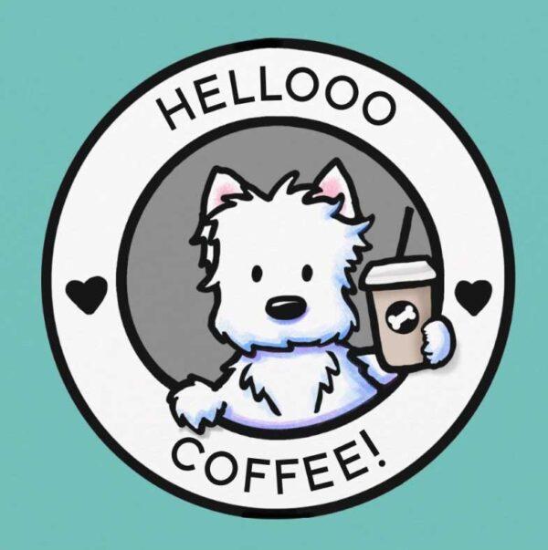 KiniArt Coffee Lover Westie